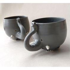 thump THump THUMP! Elephant mug! Mug holds 375ml Microwave / dishwasher / oven safe Handmade porcelain
