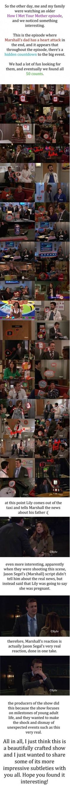 Hidden Countdown in How I Met Your Mother- not sure if repost just let me know - Imgur