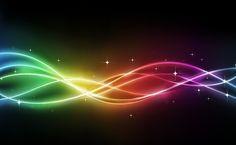 Rainbow Colored Curves Background Vector Graphic