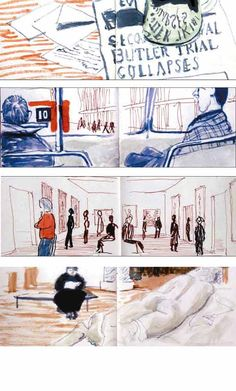 David Hockney sketches