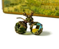 Victorian Emerald Earrrings Emerald Green Aurora by MsBsDesigns, $22.00