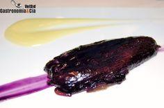 Hebras de berenjena asada con makil goxo de Josean Alija