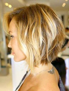graduated bob - thick hair.