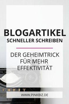 Lerne, wie du du deine Produktivität beim Bloggen erhöhst, und erfahre, mit welchem Trick du effizienter deine Blogartikel schreibst!