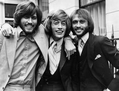 Rock and Roll Hall of Fame – The second decadeBee Gees (1997)       Gibb brothers Barry, Maurice and Robin, better known as the Bee Gees, have sold a colossal 200 million albums to date. Their album Saturday Night Fever, released in 1977, was the highest selling in history until it was overtaken by Michael Jackson's Thriller