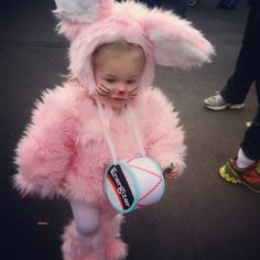 Lylas halloween costume : ) the energizer bunny