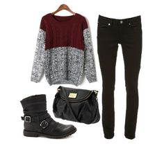 Chunky sweater / Topshop jeans / Charlotte Russe boots / Marc Jacobs bag