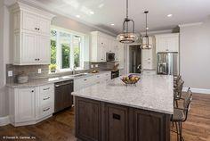 Find plenty of storage in this kitchen design! The Butler Ridge 1320-D. #WeDesignDreams