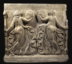 A Marble Relief with Dancing Maenads, Roman Imperial, circa 1st Century A.D. | Lot | Sotheby's