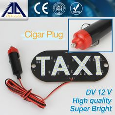 LED Taxi Light DC 12V Car indicator lamp Parking light Super white LED Working Lights Source Wholesale Free Shipping