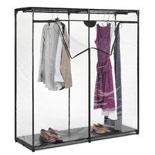 Heavy Clothes Portable Closet Storage Rack Clear Cover Wardrobe Garment New