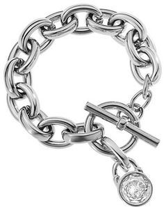 Michael Kors Silver Tone Toggle Link Bracelet ♥✤ | Keep the Glamour | BeStayBeautiful