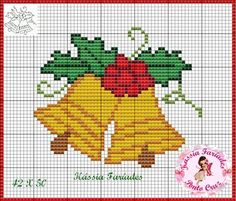 Christmas bells cross stitch.