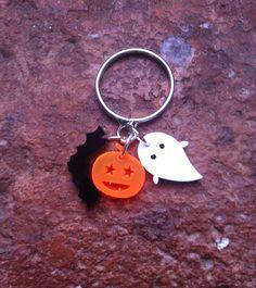 Tiny Halloween laser cut charm ring on Etsy, £6.00