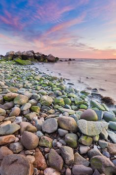 Milford Beach, Connecticut--I'm always amazed at how rocky the shoreline is.