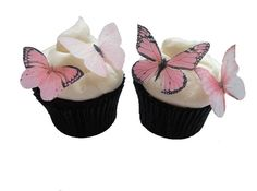 EDIBLE BUTTERFLIES CUPCAKE Toppers - 24 Light Pink Edible Butterflies - Blush Pink Cake Decorations on Etsy, $9.66