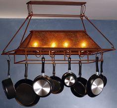 pot racks hanging pot racks and pots on pinterest. Black Bedroom Furniture Sets. Home Design Ideas