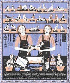 Screen print illustration by Alice Pattullo