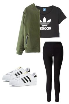 Outfit for teens by madisenharris on Polyvore featuring adidas and Miss Selfridge