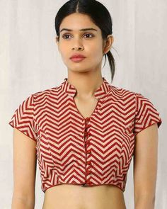 Buy Beige Indie Picks Kalamkari Print Blouse | AJIO