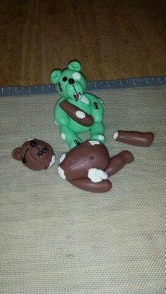 Fondant Zombie Teddy Bear!