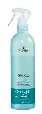 Schwarzkopf Professional BC Bonacure Moisture Kick Spray Conditioner. Great for fine, dry hair and getting out tangles