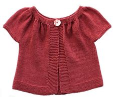 Ravelry: Kina (short+ long sleeved version) pattern by Muriela This is cute. Even though the pattern costs Diy Tricot Crochet, Knit Or Crochet, Crochet For Kids, Crochet Baby, Knitting For Kids, Baby Knitting Patterns, Hand Knitting, Knit Baby Sweaters, Knitted Baby Clothes