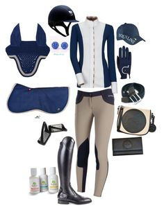 """""""Navy jumper outfit"""" by ivymyers ❤ liked on Polyvore featuring CC and Roeckl"""