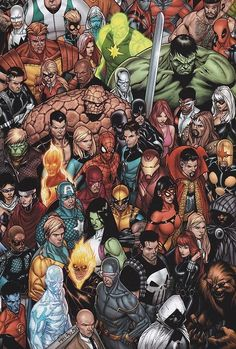 Marvel Universe - Can you name everyone? Not even hardly, but awesome nonetheless!