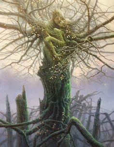 Entwined (10C), dryad or greenfolk lovers, by Tomasz Alen Kopera.