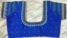 Pattu blouse with cutwork and flower design 91 9866583602 whatsapp no 7702919644
