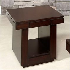 Hammary Uptown Drawer End Table in Mocha - 253-916 $245