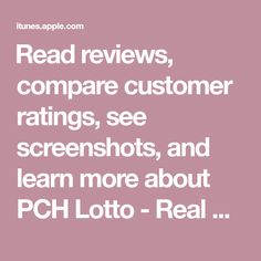 Read reviews, compare customer ratings, see screenshots, and learn more about PCH Lotto - Real Cash Jackpots. Download PCH Lotto - Real Cash Jackpots and enjoy it on your iPhone, iPad, and iPod touch. Ipod Touch, Yahoo Fantasy Football, Fantasy App, About Snapchat, Inkscape Tutorials, Apps, Whatsapp Messenger, Games To Buy, Game App