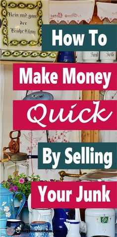 Cash in on Clutter ~ Make Money Selling Your Stuff - Want to make money fast?Cash in on Clutter ~ Make Money Selling Your Stuff - Want to make money fast? Why not sell you junk to make quick cash while cleaning and organizing y. Quick Cash, Make Money Fast, Ways To Save Money, Money Tips, Make Money From Home, Money Saving Tips, Make Money Online, Sell Stuff Online, Selling Online