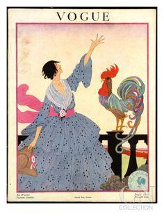 Helen Dryden Vogue Cover July 1918 Poster Print by Helen Dryden at