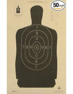 "Amazon.com: (50x) B-29 Shooting Target Official NRA Police Silhouette 14""x22"": Sports & Outdoors"