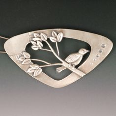 Treetop Brooch | ©2012 Vickie Hallmark |  sterling silver with stainless steel pin