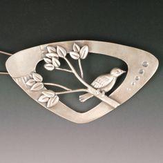 Treetop brooch  sterling silver by Vickie Hallmark