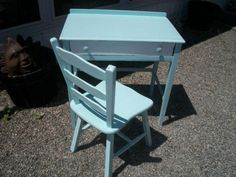 Refinished Antique Desk and Chair - VarageSale Sarnia
