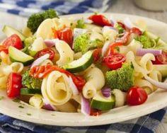 Recette de Salade de pâtes aux légumes d'été