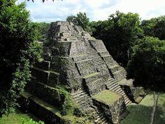 Mayan temple at Yaxha, Peten, Guatemala