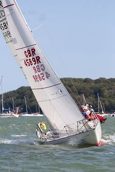 The Sigma 33 yacht 'Prospero of Hamble' racing during Cowes Week.