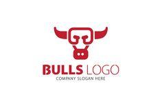 Bulls Logo by CreativeDezing on Creative Market