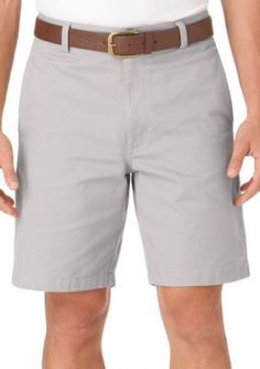 Chaps  FEB FLAT FRONT SHORTS-LIGHT NICKEL