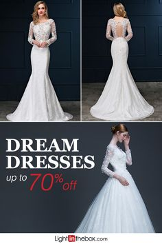 It's the most important day of your life and you can walk down that aisle in the dress of your dreams, without spending a fortune. Shop hundreds of bridal gowns, up to 70% off at lightinthebox.com.