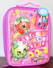 SHOPKINS Lunch Box Pink Basket Donut D'Leish Apple Blossom Strawberry NEW STYLE