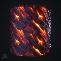 ArtStation - Stylized Magma Study, Quentin Donnaint