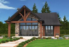 Plan 85136MS: Exclusive Mountain Micro House Plan with 2 Beds
