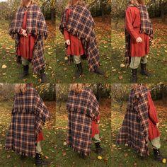 Viking age rectangular woolen cloak. Made by Henrik Nordholm.  https://www.facebook.com/pages/Henrik-Nordholm/254634504677319