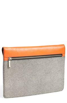 'Grab & Go' Leather Clutch /